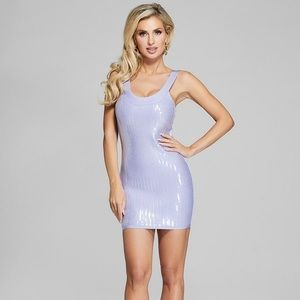 NWT! Marciano Thalía Sequin Bandage Dress - Lilac